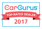 Drive Smart Finance is a CarGurus Top Rated Dealer for 2017